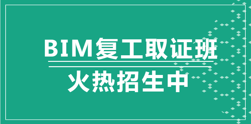 阜阳2020年BIM复工取证班