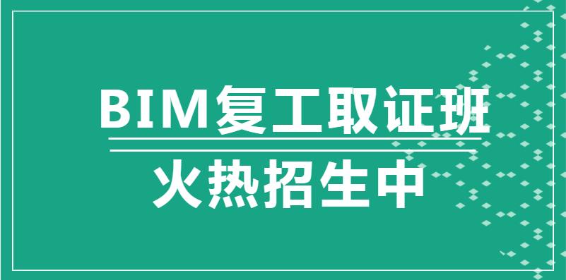 许昌2020年BIM复工取证班