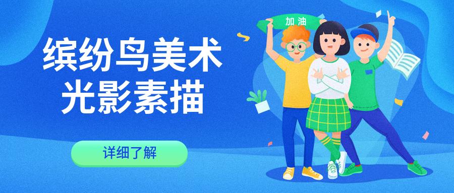 长沙开福区九曲缤纷鸟光影素描10-11岁课程