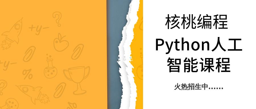 哈尔滨核桃编程少儿Python人工智能课程班