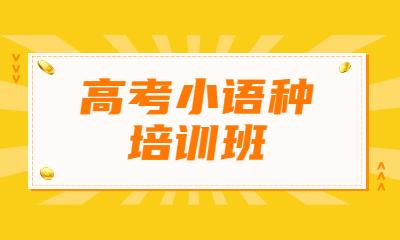 上海徐汇高考小语种培训班